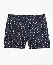 Cotton Stretch Floral Shorts