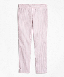 Stretch Cotton Seersucker Pants