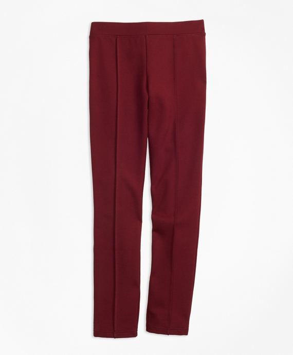 Girls Ponte Knit Leggings Burgundy