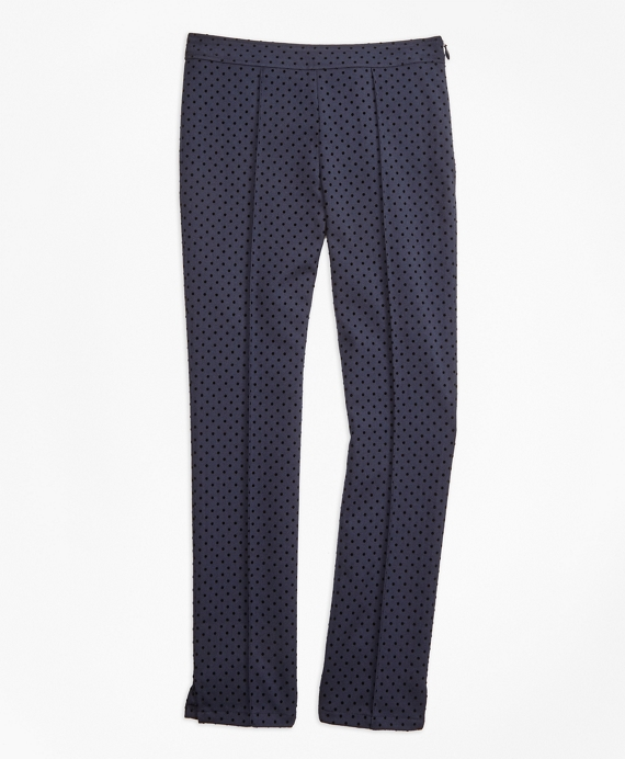 Girls Polka Dot Pants Navy