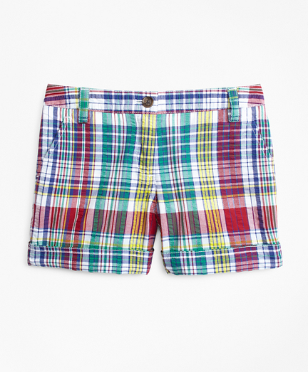 Girls Cotton Madras Shorts