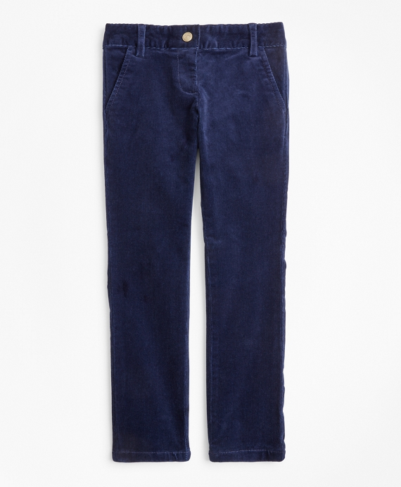 Girls Corduroy Pants Navy