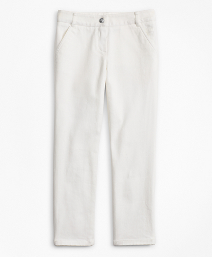 Girls Cotton Twill Pants