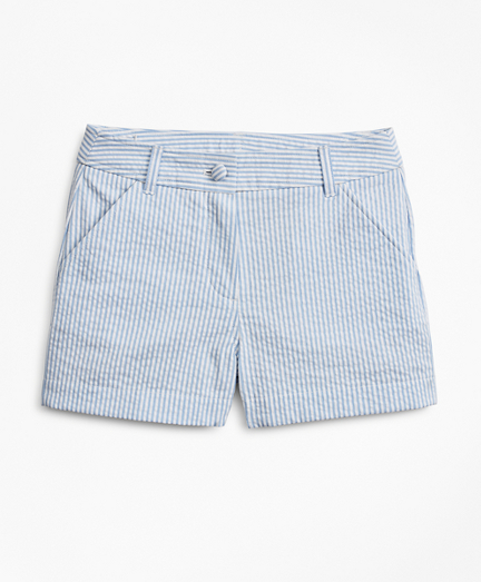 Girls Seersucker Shorts