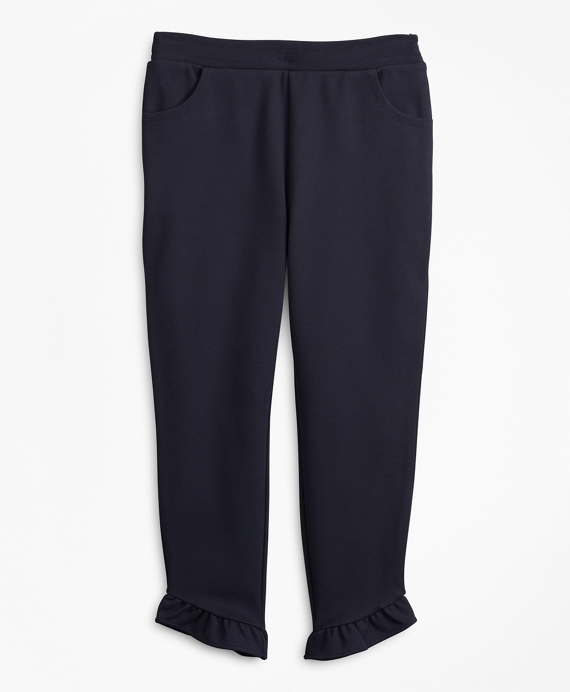 Girls Knit Ponte Pants Navy
