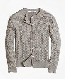 Long-Sleeve Mini Cable Cardigan