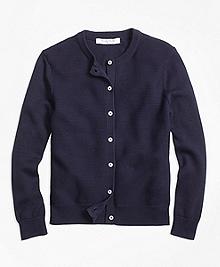 Cotton Ribbed Cardigan