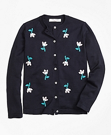 Supima® Cotton Embroidered Cardigan
