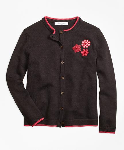Merino Wool Embroidered Cardigan
