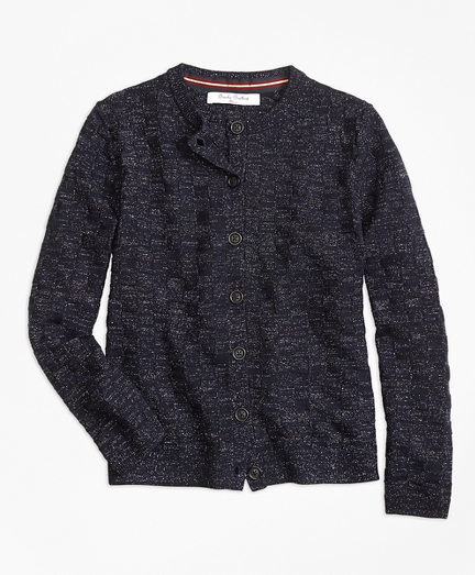 Girls Merino Wool Basketweave Cardigan