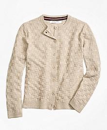 Merino Wool Basketweave Cardigan