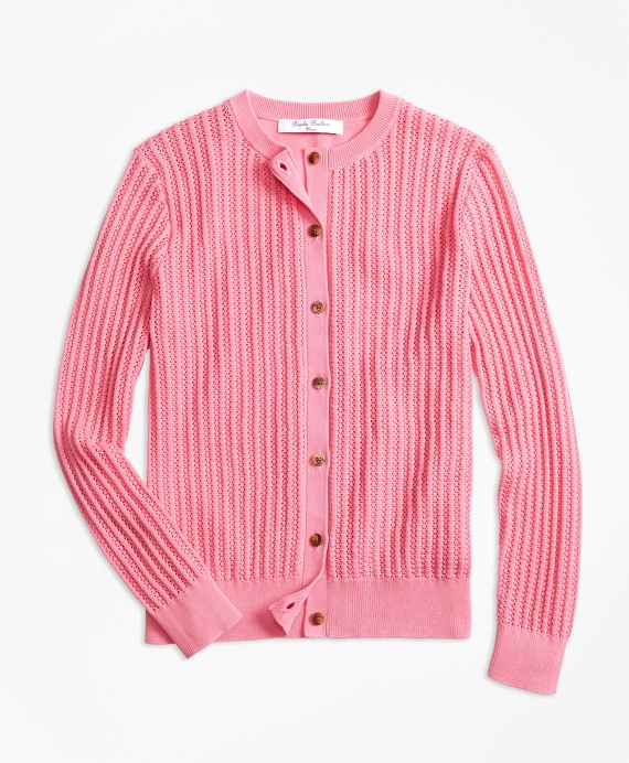 Girls Cotton Cardigan Pink