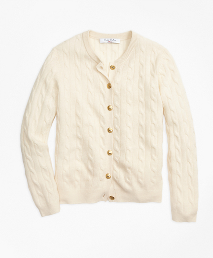 Girls Cashmere Cable Cardigan