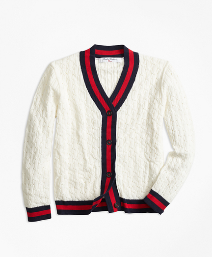 Girls Cotton Tipped Cardigan
