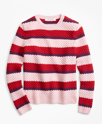 Girls Merino Wool Stripe Sweater
