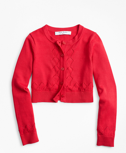 Girls Cotton Cropped Cardigan