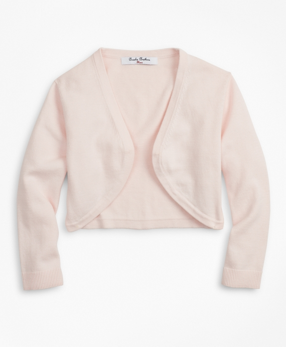 Girls Cotton Cardigan Light Pink