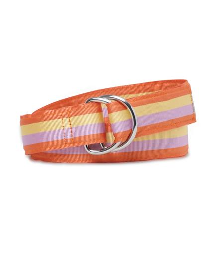 Girls Striped Ribbon Belt