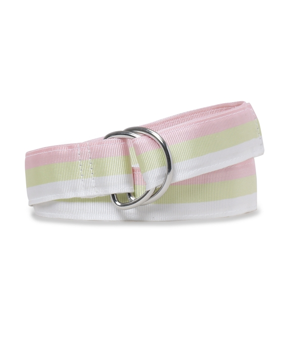 Girls Striped Ribbon Belt Pink