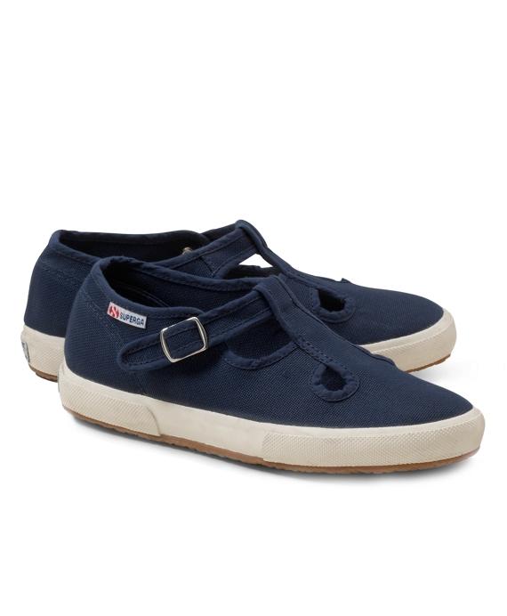 Girls Superga® T-Strap Sneakers Navy