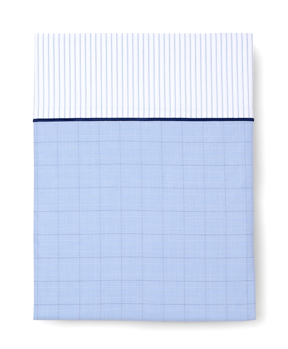 Glen Plaid Full Flat Sheet Blue