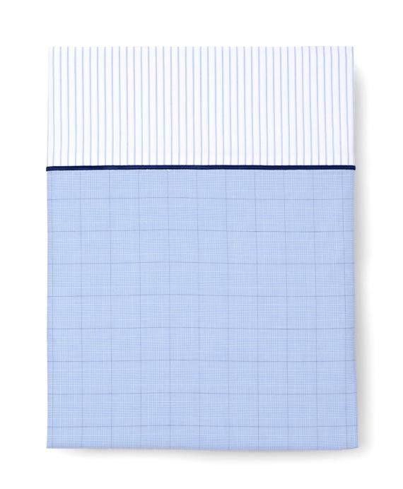 Glen Plaid Queen Flat Sheet Blue
