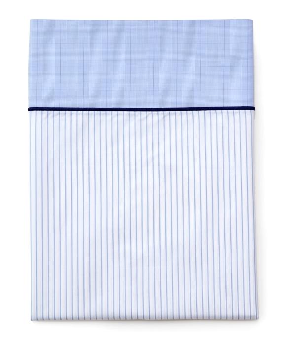 Pinstripe King Pillow Cases Blue