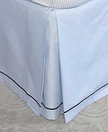Windowpane Queen Bed Skirt