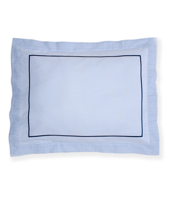 Windowpane Standard Sham Blue
