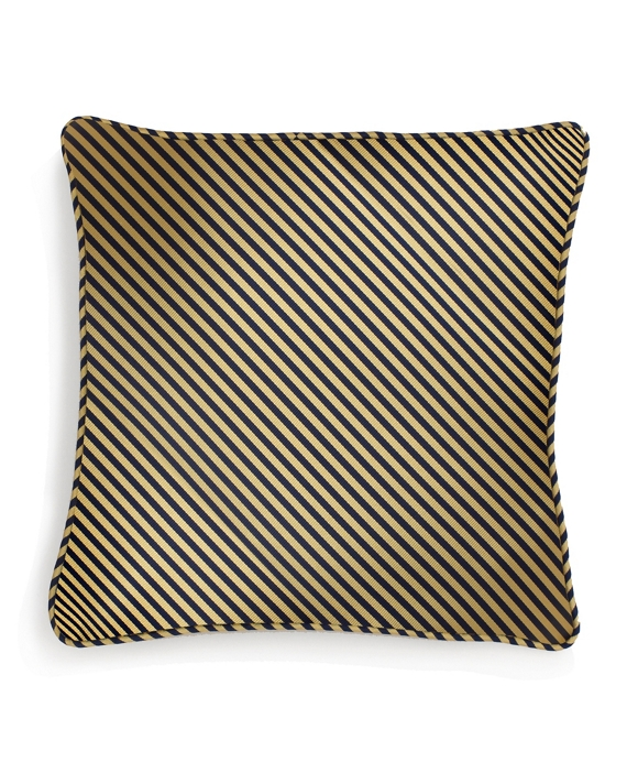 "Vertical Jockey Stripe 16"" Square Pillow Gold-Navy"