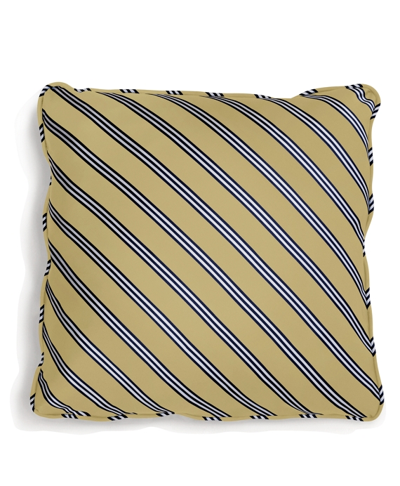 Diagonal BB#1 Rep Stripe 18&quot Square Pillow Gold-Navy