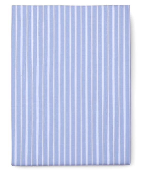 Stripe King Fitted Sheet Blue-White