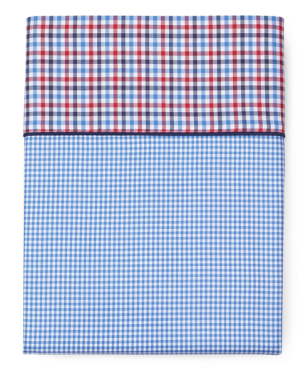 Gingham King Flat Sheet