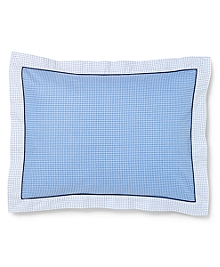 Gingham and Tattersall King Sham