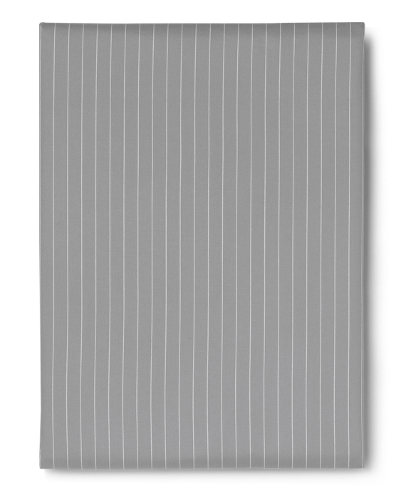 Pinstripe King Fitted Sheet Grey