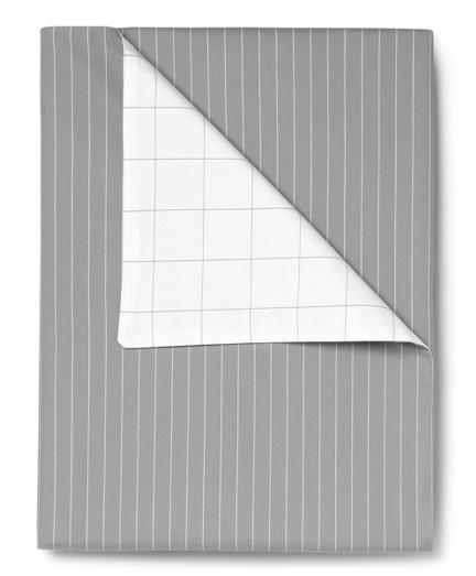 Pinstripe and Windowpane Full/Queen Duvet Cover