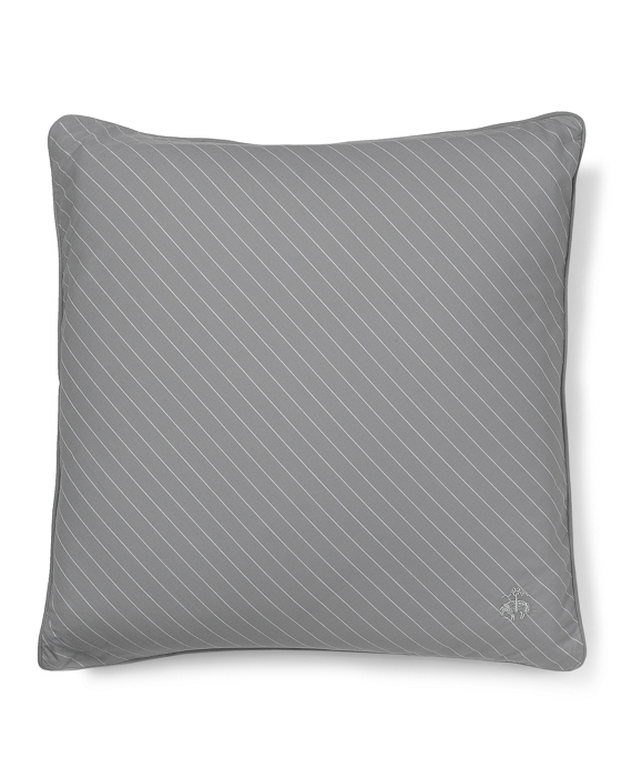 Diagonal Pinstripe Decorative Pillow Case Grey