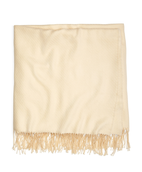 Cream Merino Wool Throw Cream