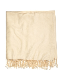 Cream Merino Wool Throw