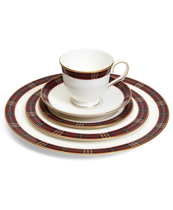 Signature Tartan Five-Piece China Place Setting Red Multi