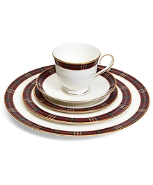 Signature Tartan Five-Piece China Place Setting
