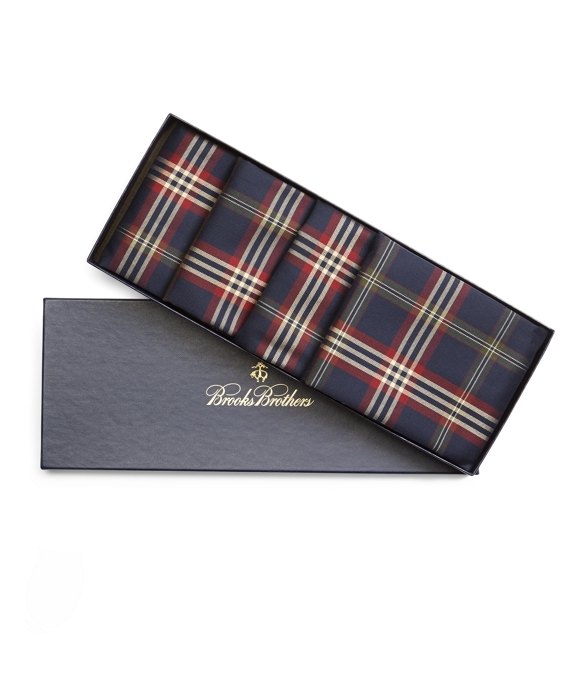 Signature Tartan Four-Piece Napkin Set Navy