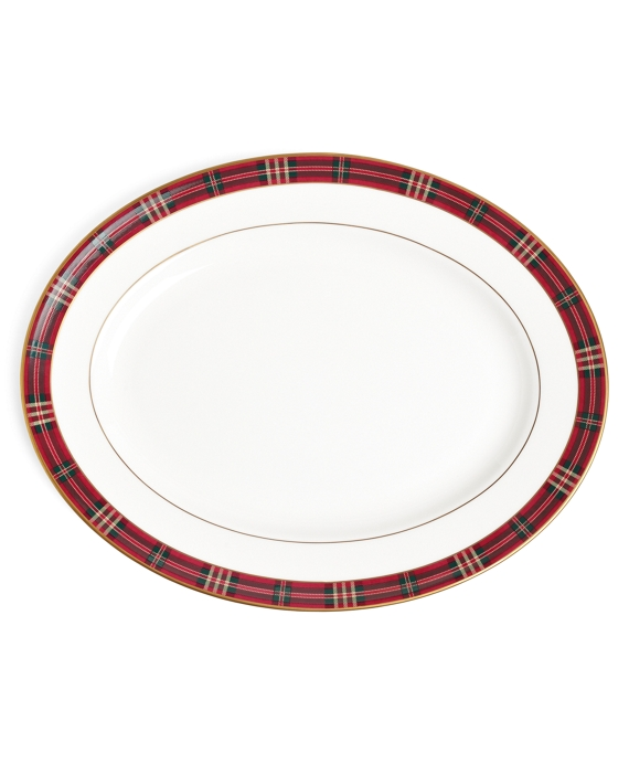 Signature Tartan Oval Platter Red
