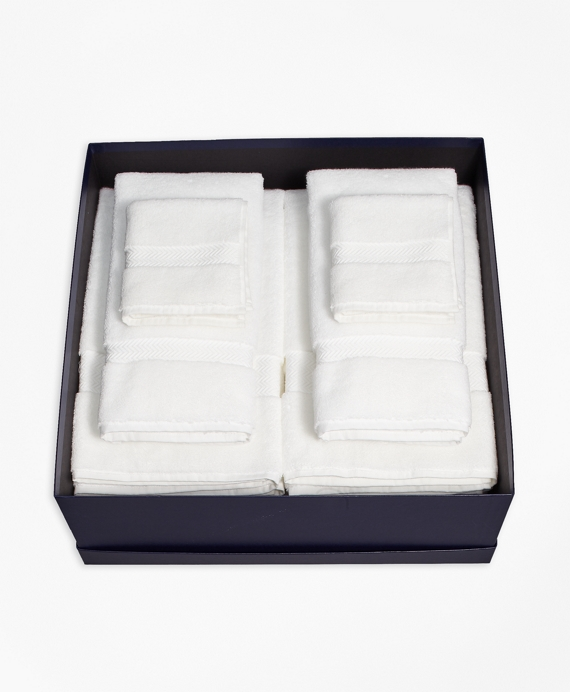 Terry Bath Towel Gift Set White