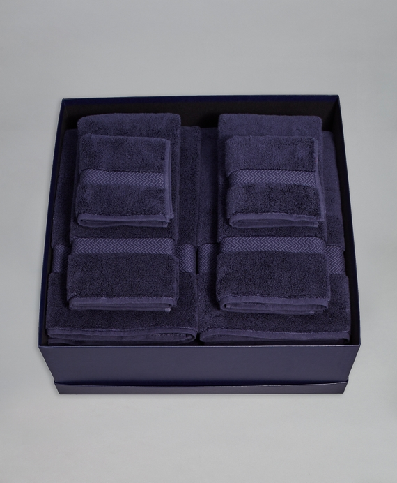 Terry Bath Sheet Gift Set Navy