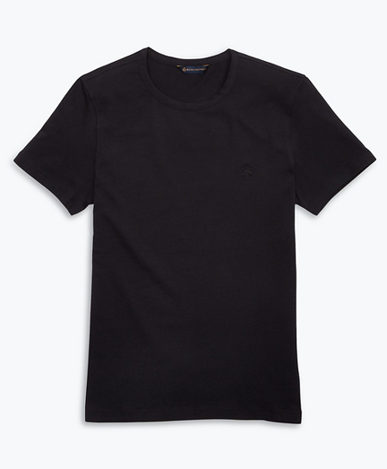Stretch Cotton Jersey Crewneck T-Shirt