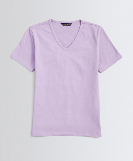 Stretch Cotton Jersey V-Neck T-Shirt
