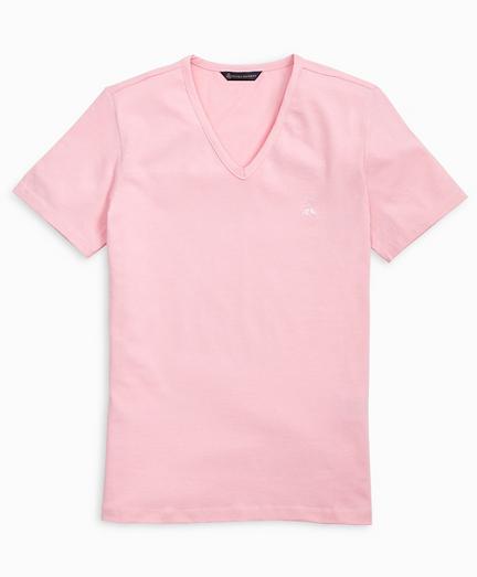 Stretch Cotton Jersey V-Neck T-Shirt