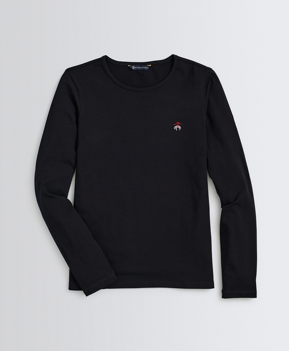 Stretch-Cotton Jersey Long-Sleeve T-Shirt Black