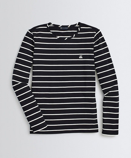 Striped Stretch-Cotton Jersey Long-Sleeve T-Shirt